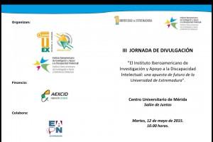 Díptico exterior Jornada Mérida