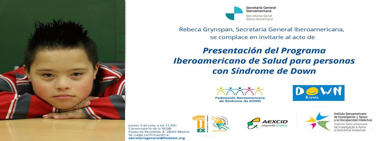 Presentación del Programa Iberoamericano de Salud para Personas con Síndrome de Down