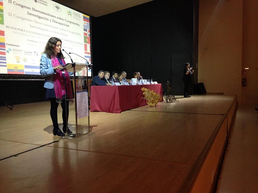 Inaugurado el II Congreso  Iberoamericano sobre Cooperación, Investigación y Discapacidad: Retos para la consecución de la accesibilidad universal