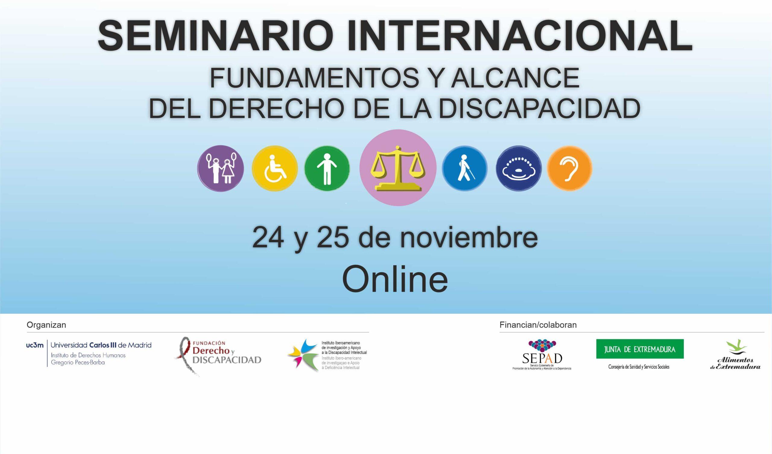 Seminario internacional «Fundamentos y Alcance del Derecho de la Discapacidad»